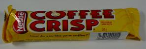 Coffee Crisp = chocolate-covered wafer with a filling